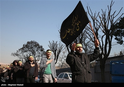تہران میں عزاداری حضرت زھرا (س) کا دستہ