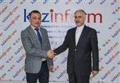 دیدار سفیر ایران با مدیرعامل خبرگزاری دولتی کازینفرم قزاقستان