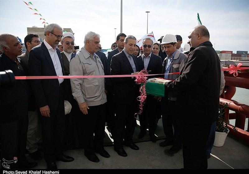 افتتاح تاسیسات اسکله سوخترسانی بوشهر به روایت تصویر