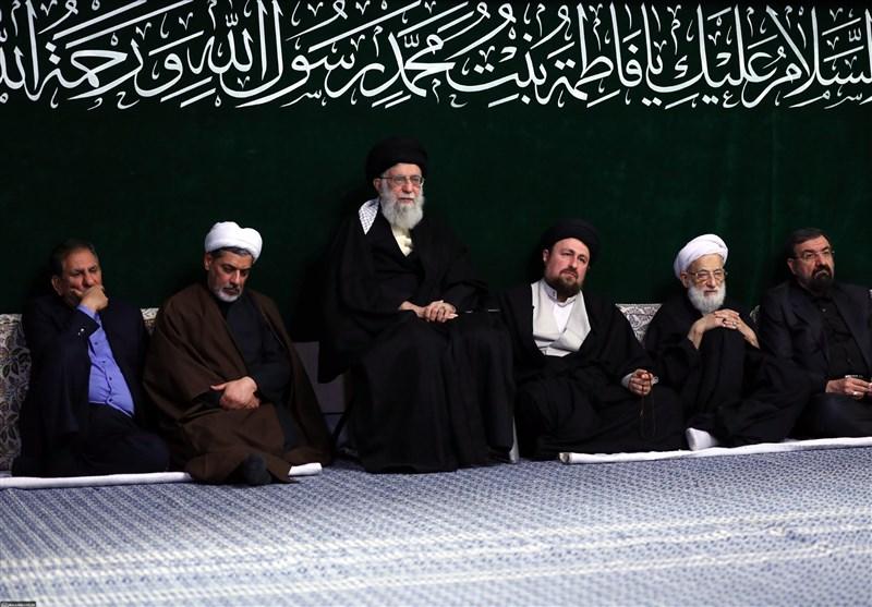 سومین شب عزاداری حضرت زهرا(س) با حضور امام خامنهای برگزار شد+ تصاویر