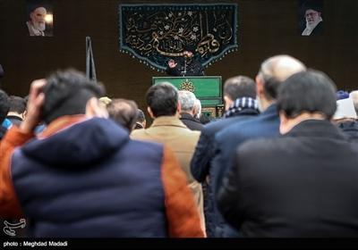 مجید شعبانی مداح اهل بیت در تجمع عزاداران فاطمی میدان شهید طهرانیمقدم