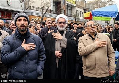 تجمع هیئت های مذهبی دارالشهدای تهران منطقه 17 به مناسبت شهادت حضرت زهرا(س) در میدان ابوذر