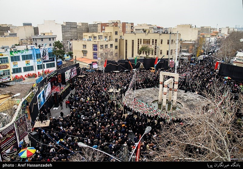 تجمع هیئت های مذهبی دارالشهدای تهران منطقه 17 به مناسبت شهادت حضرت زهرا(س)