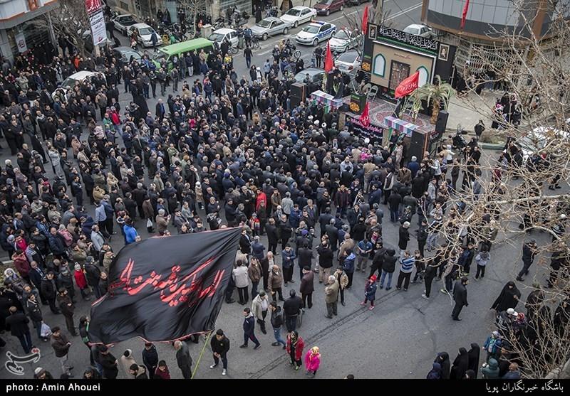 دسته عزاداری یاس کبود بمناسبت شهادت حضرت فاطمه الزهرا(سلام الله علیها) در خیابان نبرد