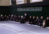 آخرین شب مراسم عزاداری حضرت زهرا (س) با حضور رهبر انقلاب در حسینیه امام