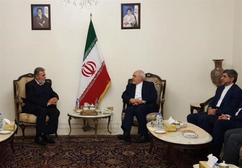خلال لقاء النخالة.. ظریف یؤکد على إستمرار دعم المقاومة الفلسطینیة