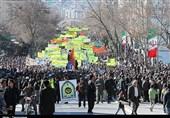 البرزنشینان 40 سالگی انقلاب را جشن گرفتند؛ حضور پرشور مردم در راهپیمایی 22 بهمن