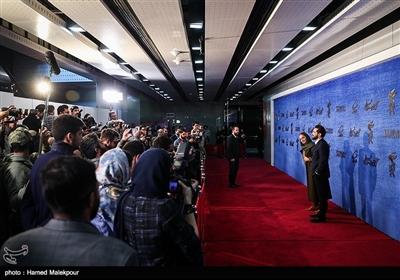 بهرام رادان و مهناز افشار بازیگران فیلم «آشفتگی» در سیوهفتمین جشنواره فیلم فجر
