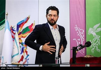 بهرام رادان بازیگر در نشست خبری فیلم «آشفتگی» - سیوهفتمین جشنواره فیلم فجر
