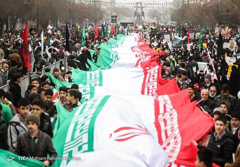 بهمن تماشایی 97| راهپیمایی پرشور مردم مازندران در 22 بهمن آغاز شد+فیلم