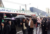 راهپیمایی 22 بهمن 97| راهپیمایی مردم تهران زیر بارش شدید باران + فیلم
