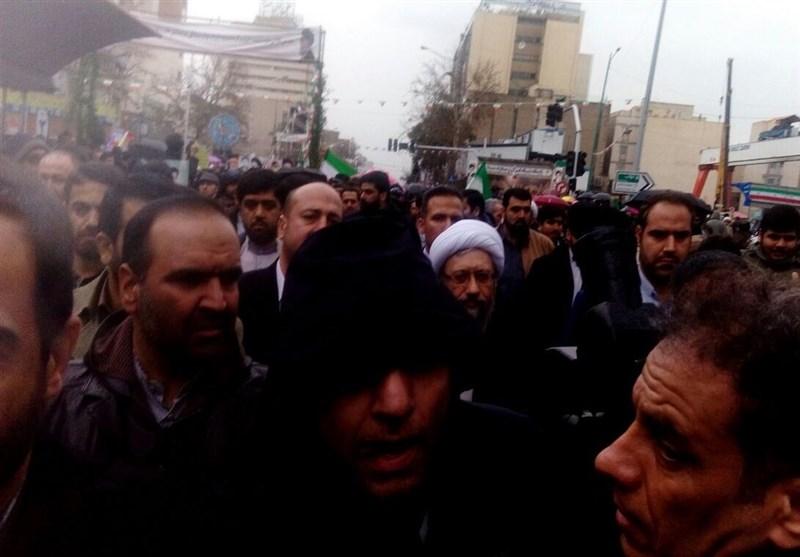 راهپیمایی 22 بهمن 97|حضور رئیس قوه قضائیه در راهپیمایی 22 بهمن