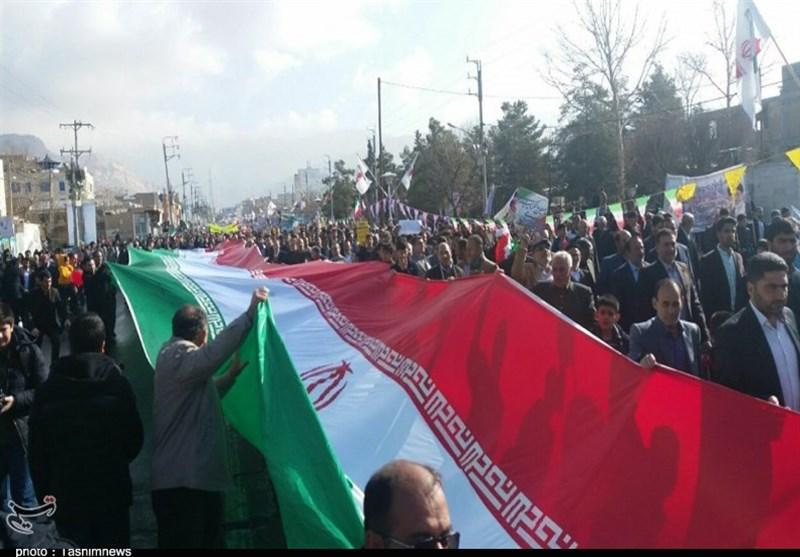 راهپیمایی 22 بهمن 97  جانشین پلیس پیشگیری: خواب دشمنان برای چهلسالگی انقلاب تعبیر نشد