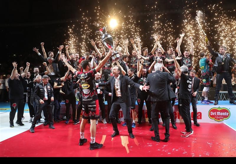 پروجا قهرمان جام حذفی والیبال ایتالیا شد+تصاویر