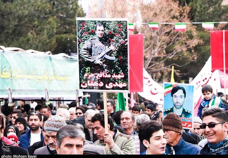 بهمن تماشایی 97  راهپیمایی شکوهمند 22 بهمن در کاشان برگزار شد + تصاویر