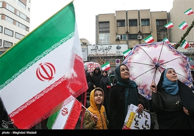 مسیرات الذکرى السنویة الأربعین لانتصار الثورة الاسلامیة فی طهران