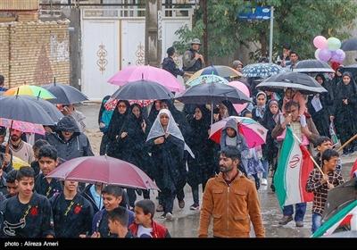 راهپیمایی چهلمین سالگرد پیروزی انقلاب اسلامی ایران در لامرد