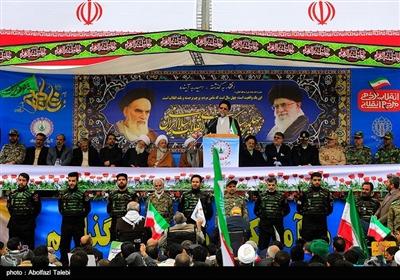سخنرانی حجت الاسلام محمود علوی وزیر اطلاعات در راهپیمایی چهلمین سالگرد پیروزی انقلاب اسلامی ایران در بیرجند