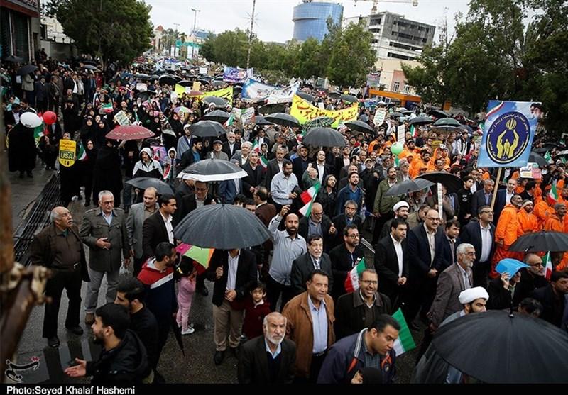 حماسه بوشهریها در راهپیمایی چهلمین سال پیروزی انقلاب اسلامی به روایت تصویر