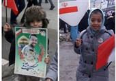 فرزندان شهدای مدافع حرم؛ حاضران راهپیمایی 22 بهمن +تصاویر