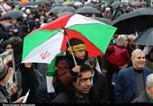 بازتاب راهپیمایی 22 بهمن 97| گزارش خبرگزاری فرانسه از حضور گسترده مردم در روز بارانی و نمایش توانمندیهای دفاعی ایران