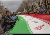بهمن تماشایی 97| حضور گسترده مردم قزوین در راهپیمایی یومالله 22 بهمن+فیلم