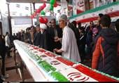 پخت و توزیع کیک 40 متری در اسلامشهر به مناسبت 40 سالگی انقلاب اسلامی +تصاویر