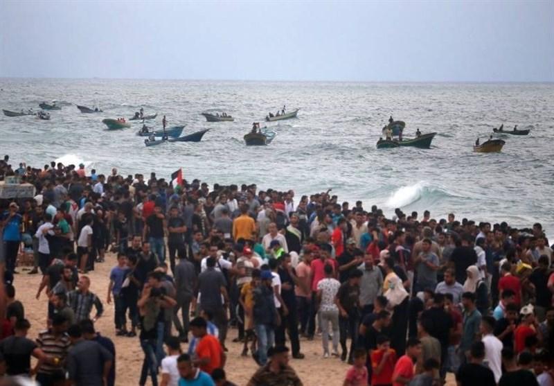 إصابات بقمع الاحتلال للحراک البحری الـ24 شمال قطاع غزة