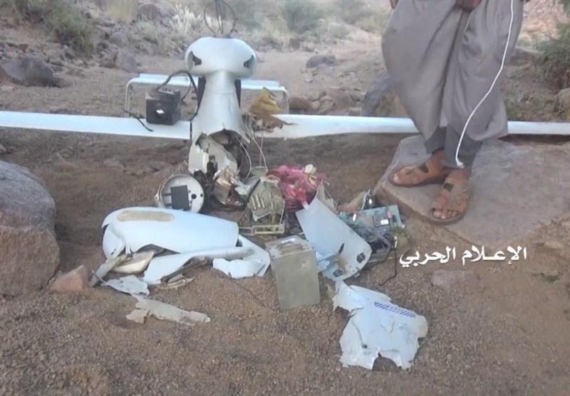 سرنگونی پهپاد جاسوسی ائتلاف متجاوز سعودی به دست نیروهای یمنی