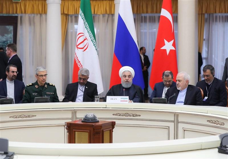 روحانی: یجب أن ینتهی تواجد الامریکیین فی سوریا