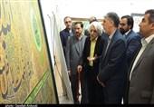 وزیر ارشاد با هنرمند بزرگ خوشنویس کرمانی دیدار کرد+تصاویر