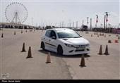 مسابقات اسلالوم اتومبیلرانی همگانی استان خوزستان برگزار شد+ تصاویر