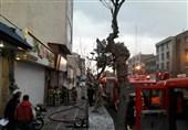 آتشسوزی گسترده کارگاه نجاری در خیابان جمهوری + تصاویر