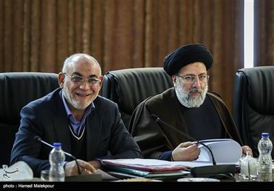 حجتالاسلام سیدابراهیم رئیسی و حسین مظفر در جلسه مجمع تشخیص مصلحت نظام