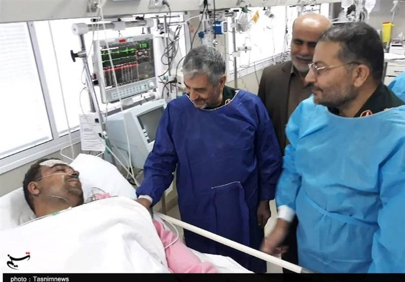 اصفهان  فرمانده کل سپاه از مجروحان حادثه تروریستی زاهدان عیادت کرد + تصویر