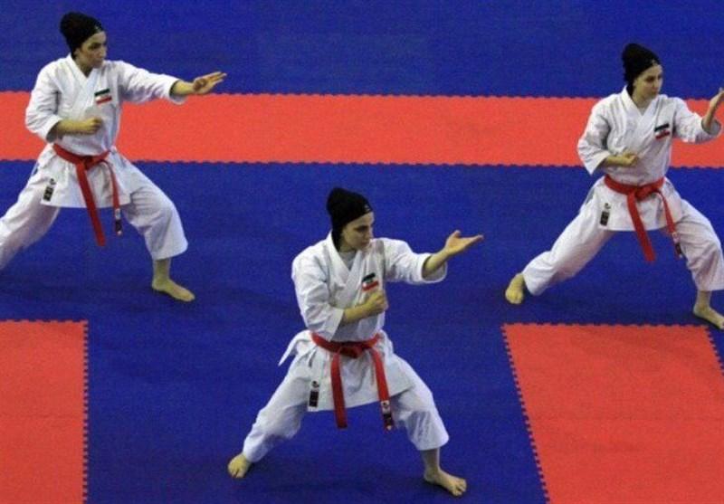 لیگ جهانی کاراته وان دبی|کاتای تیمی بانوان در یک قدمی مدال طلا
