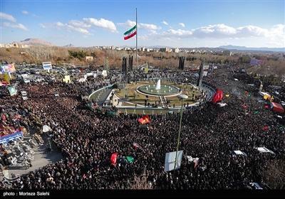 مراسم تشییع پیکر شهدای حادثه تروریستی زاهدان در اصفهان