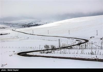 بارش برف در شهرستان اهر