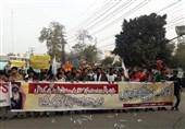 تواصل الاحتجاجات على زیارة بن سلمان الى باکستان+ صور