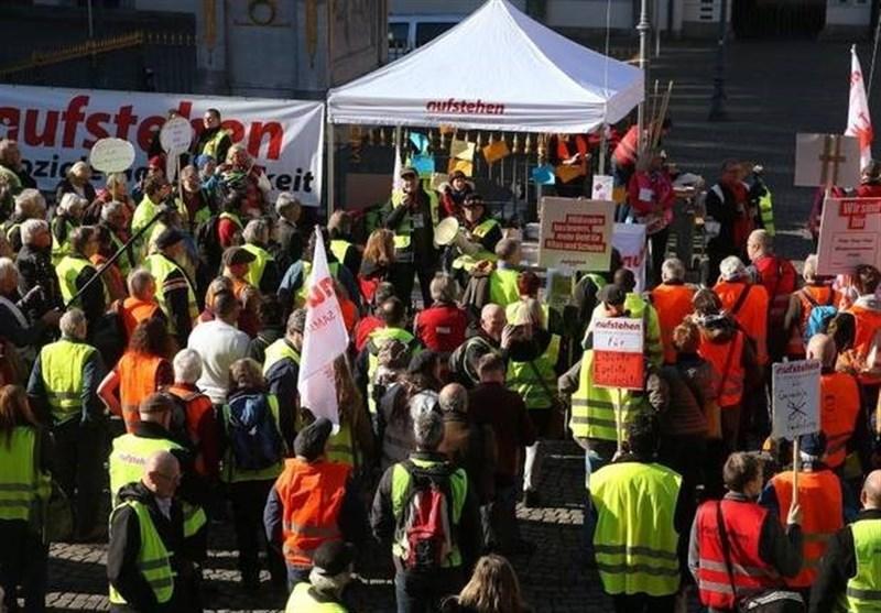 اعتراضاتی مشابه جلیقه زردهای فرانسه در سراسر آلمان برگزار شد