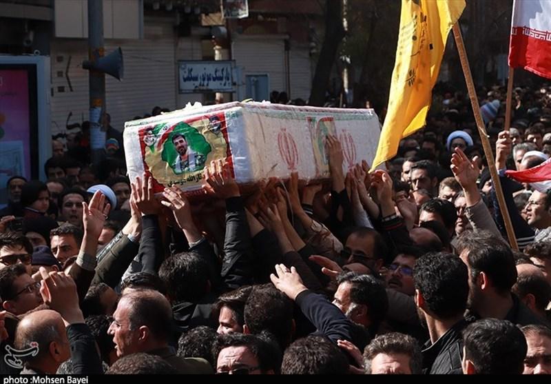 اصفهان| پیکر 2 شهید حادثه تروریستی زاهدان در شهرضا تشییع و تدفین شد