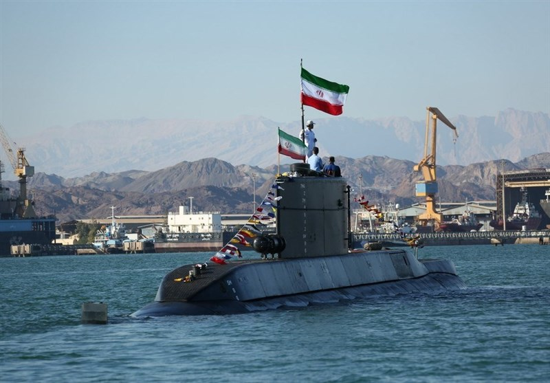 Iranian Submarine Fires Torpedoes in War Game