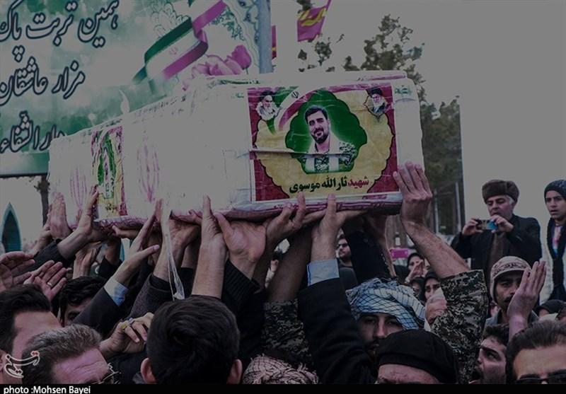 کاشان|پیکر شهید «سید ثارالله موسوی» در آغوش خاک آرام گرفت+ تصاویر