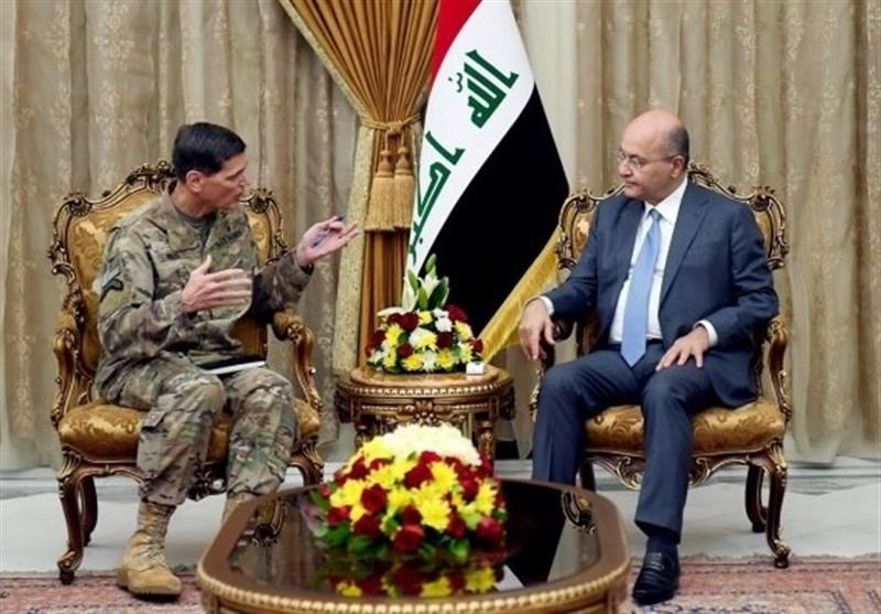 دیدار فرمانده نیروهای مرکزی آمریکا با رئیسجمهور و رئیس پارلمان عراق