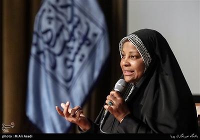 سخنرانی مرضیه هاشمی فعال رسانه در مراسم گرامیداشت روز حجاب