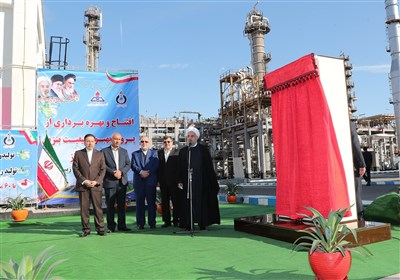 President Inaugurates New Phase of Large Refinery South of Iran