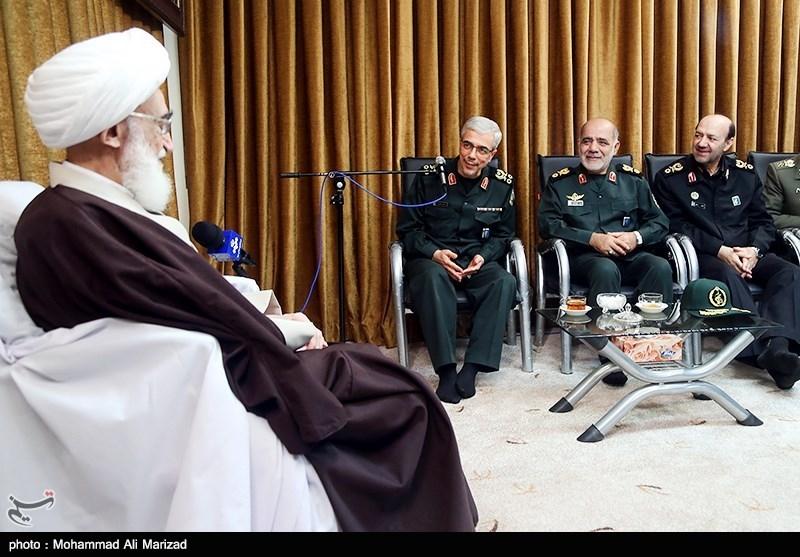 دیدار سرلشکر باقری رئیس ستاد کل نیروهای مسلح با آیت الله نوری همدانی