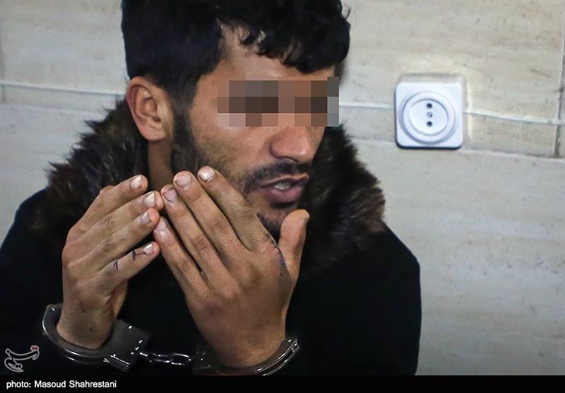 دستگیری شروری که 9 خودرو را در میدان خراسان تخریب کرد+تصاویر