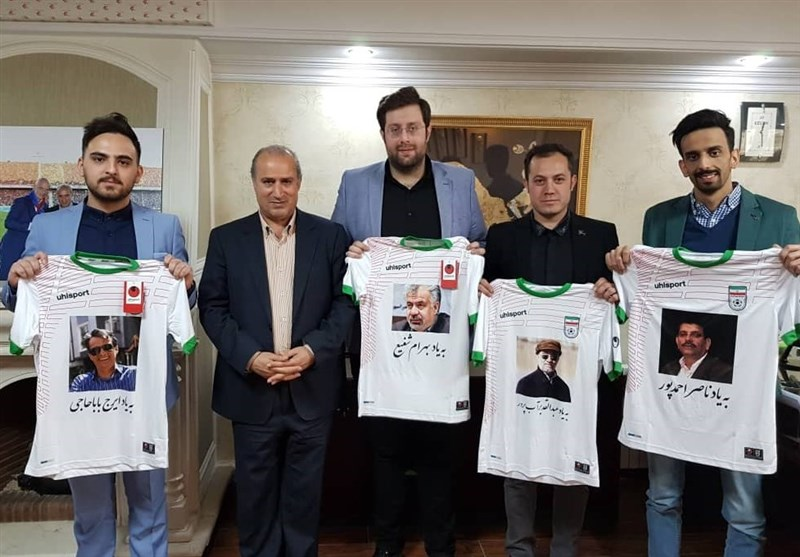 دیدار فرزندان تنی چند از پیشکسوتان فقید رسانه با رئیس فدراسیون فوتبال