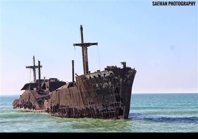 ایران کے جزیرہ کیش میں قدیمی یونانی کشتی